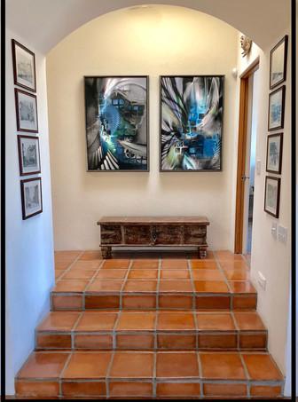 Chrysalis and Emergence Diptich in Tucson, Arizona home