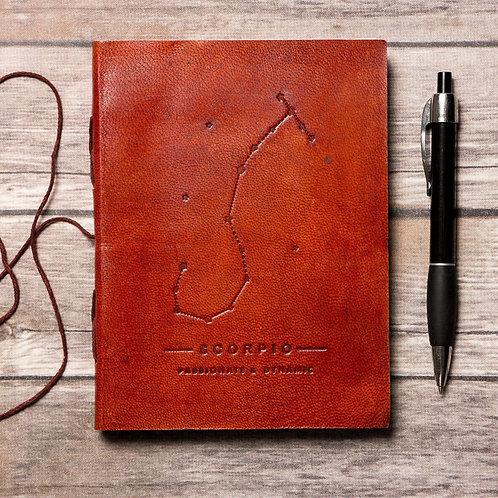 Scorpio Zodiac Handmade Leather Journal