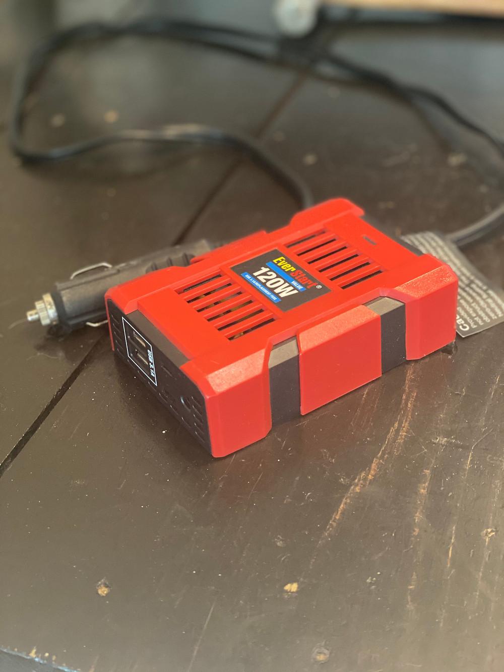 120W mini inverter 12V car charger