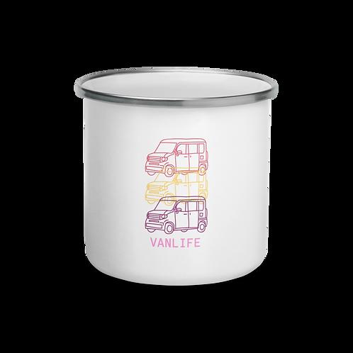 Triple Van Enamel Mug