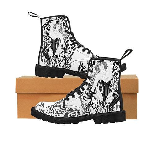 Phoenix the Jaguar Men's Canvas Boots