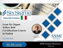 Lean Six Sigma Yellow Belt Certification Course in Italian
