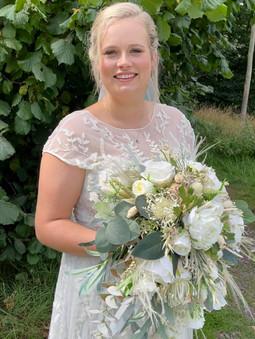 Natural looking bridal makeup for Georgina