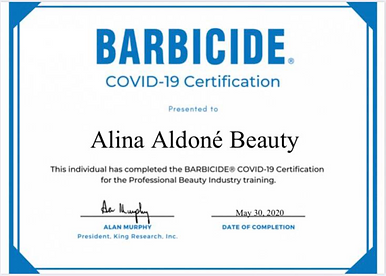 Barbecide COVID-19 Certification