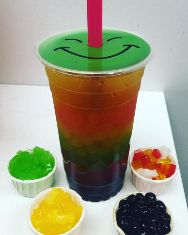 Rainbow Slush with Jellies.