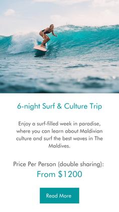 6-night Surf & Culture Maldives Trip