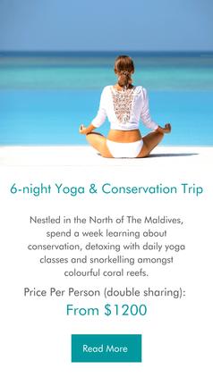 6-night Yoga & Conservation Maldives Trip