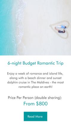 6-night Budget Romantic Maldives Trip