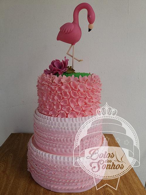Bolo Drapeado Flamingo R9027F