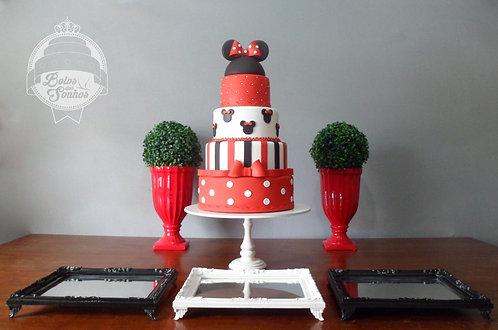 Kit Minnie Vermelha 6 peças + bolo