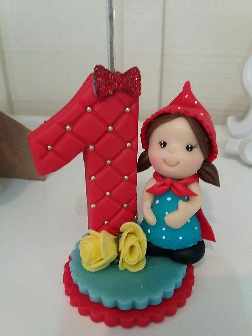 Vela biscuit Chapeuzinho Vermelho
