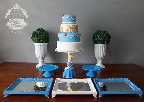Kit Cinderela 8 peças + bolo