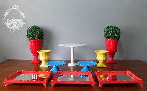 Kit Amarelo, Azul e Vermelho 10 peças