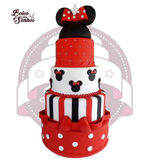 Bolo Minnie Vermelha R3005