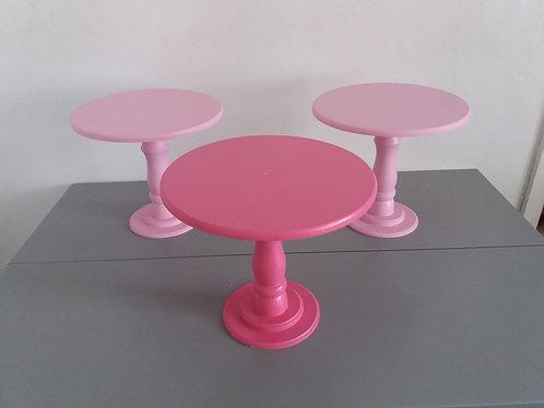 3 Suportes tons de rosa