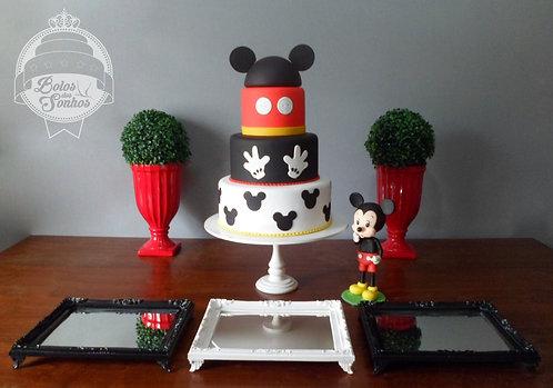 Kit Mickey 6 peças + bolo + personagem
