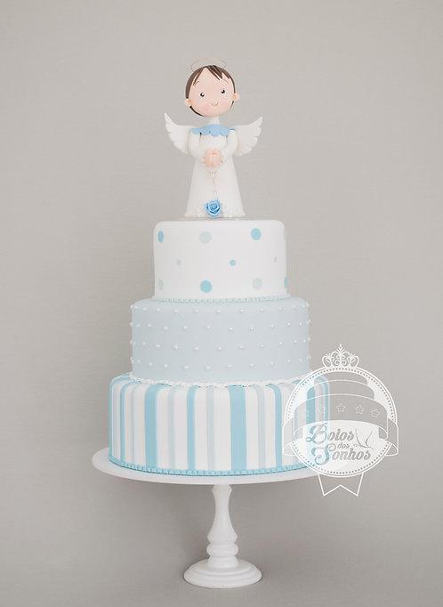Bolo Batizado azul R1001