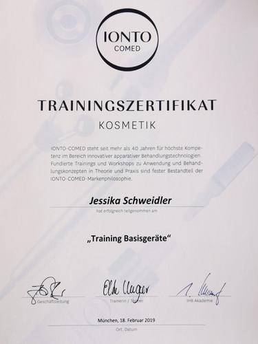 Trainingszertifikat KOSMETIK