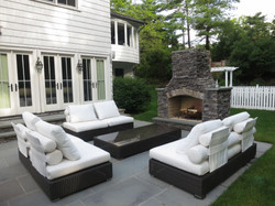 Outdoor Fireplace & seating area