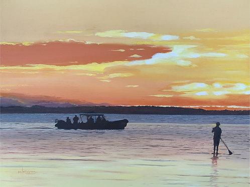 """Last Paddle"" - Crescent Beach BC"