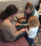 Big sister, home birth, midwife, caring