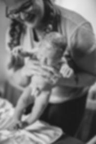 Midwife, home birth