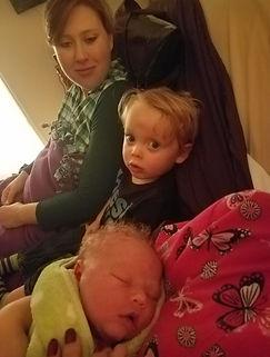 Big Brother David with Mom & Simon