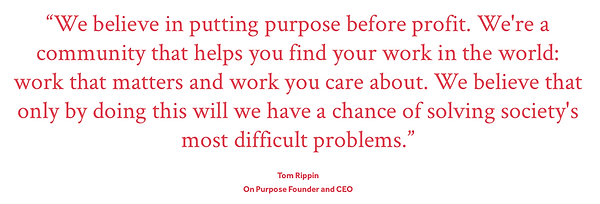 On Purpose CEO Sidney Coach London