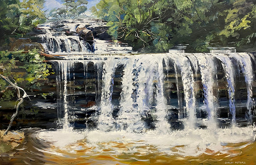 Wentworth Falls At The Top 115x179cm