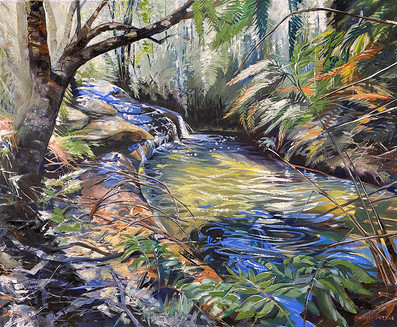 To Junction Falls At Lawson 83x101cm