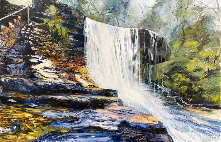 Flood Water At Weeping Rock 115x179cm