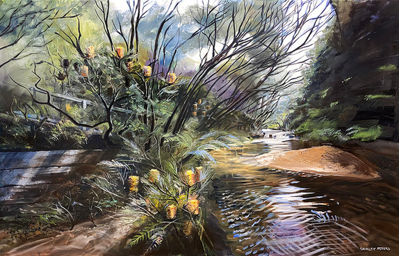Gentle Light Before The Falls 115x179cm