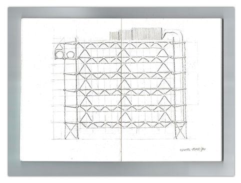 Centre Pompidou Elevation sketch