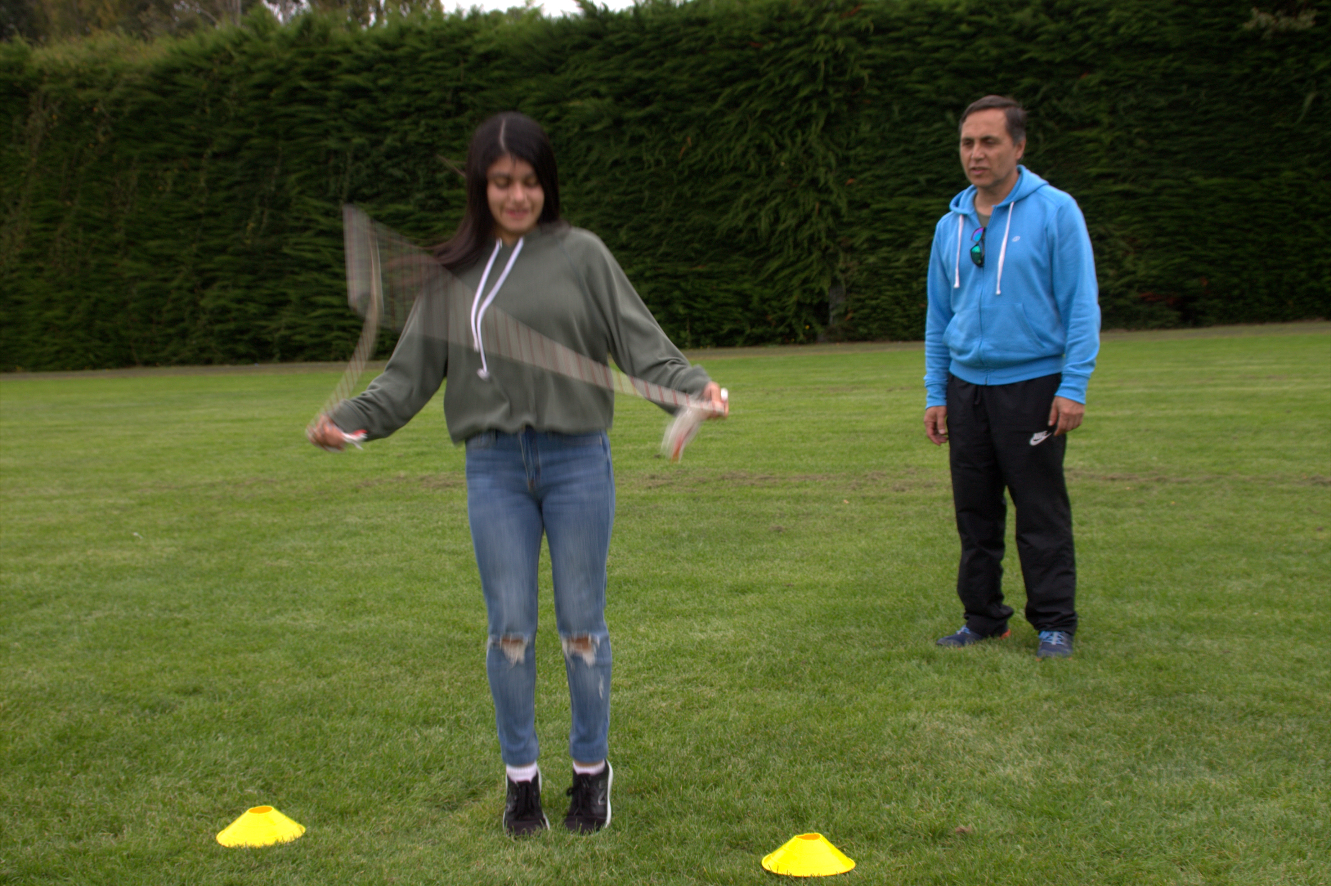 Concurso de  la cuerda ..saltando