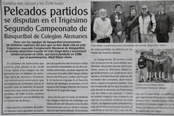 En El Heraldo con Campeonato de Basquetbol