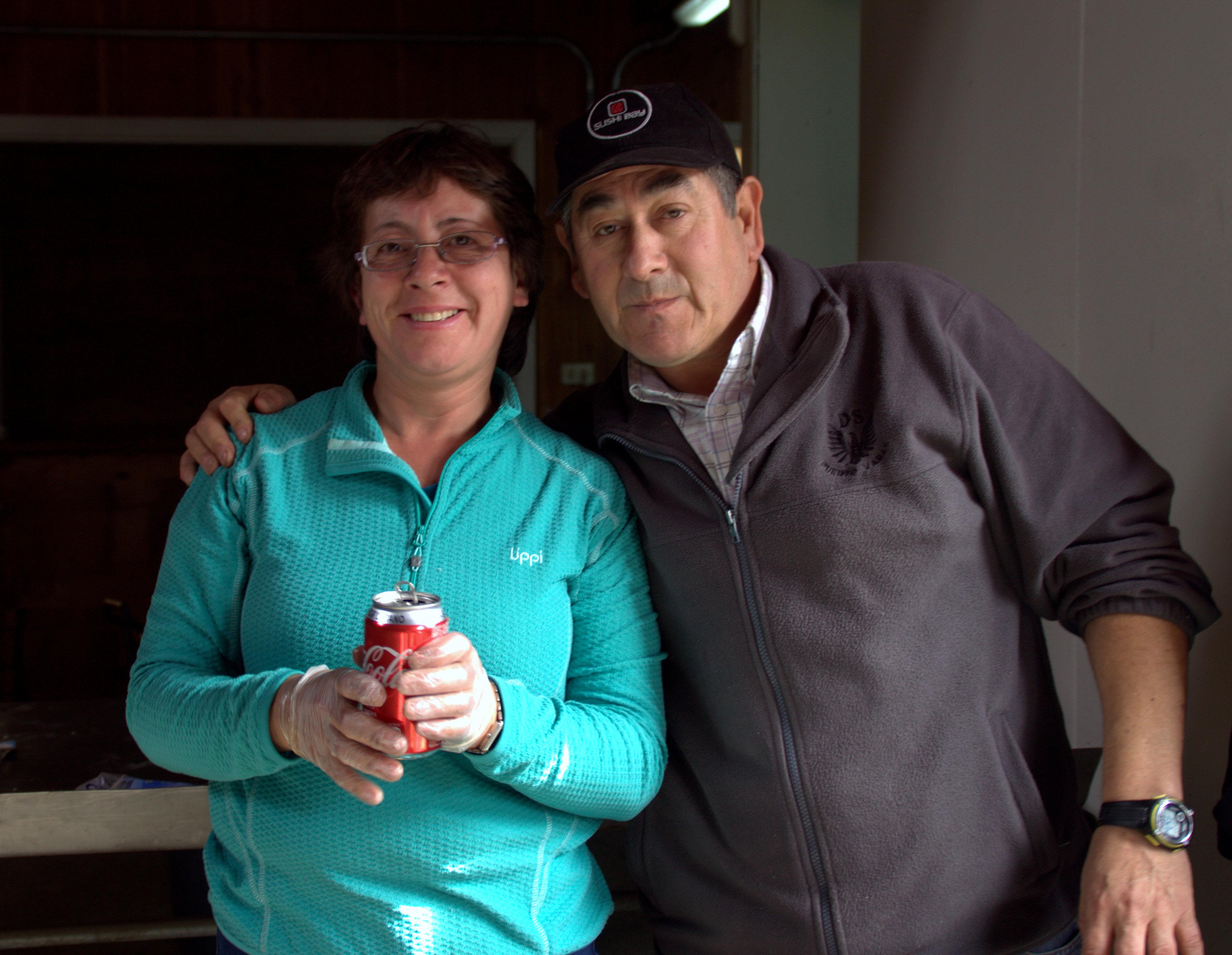 Don Jaime y nuestra angelita que nos cuida en tener todo limpiecito