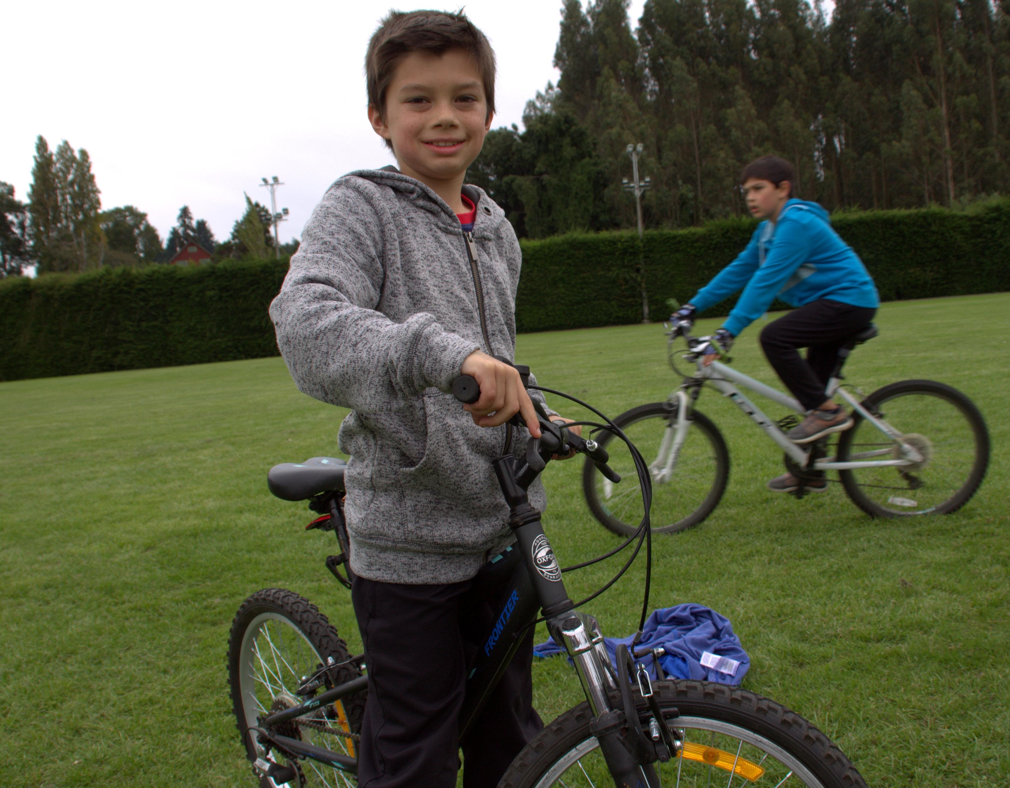 primer lugar en tres vueltas en bici