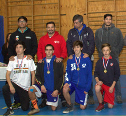 medallas puestas tras un duro torneo