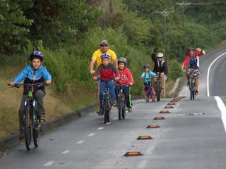 Buen tiempo en jornada espectacular: la belleza del paisaje inspiró a los ciclistas