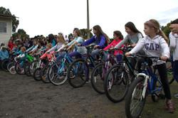 trecera vuleta carrera bicicletas femenino