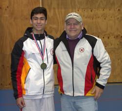 con el profesor Osvaldo Sandoval