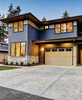 Luxurious new construction home in Bellevue, WA. Modern style home boasts two car garage f
