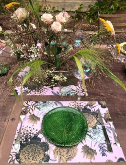 set de table floral 2