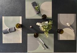 set de table green spiral 2