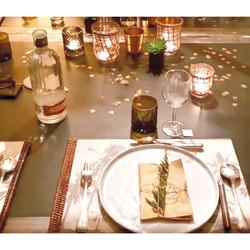 set de table palmier
