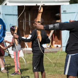 Modelling great archery form!