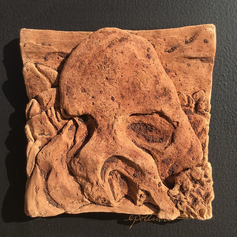 """""""Skull Rock"""" 7""""x7"""" $50 1/25"""