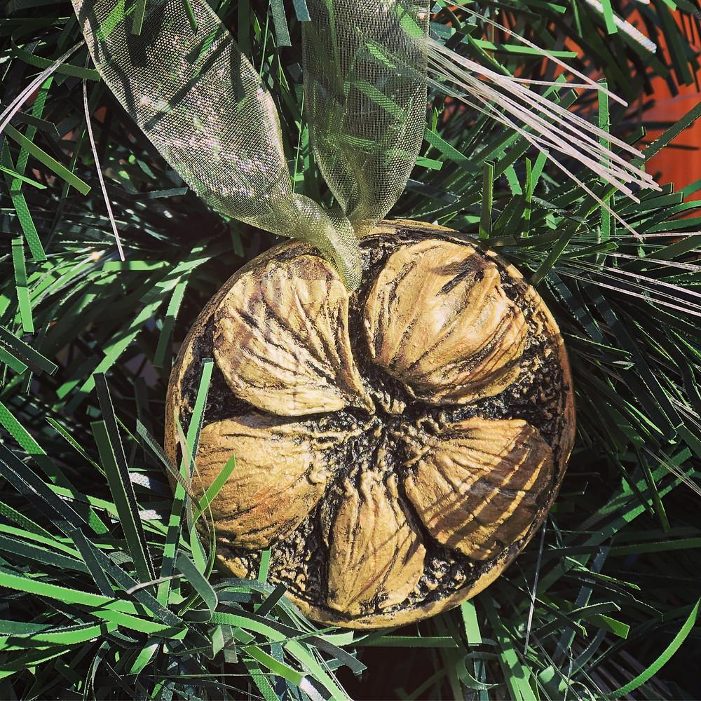 """""""Nasturtium"""" ornament, 2.5"""" dia."""