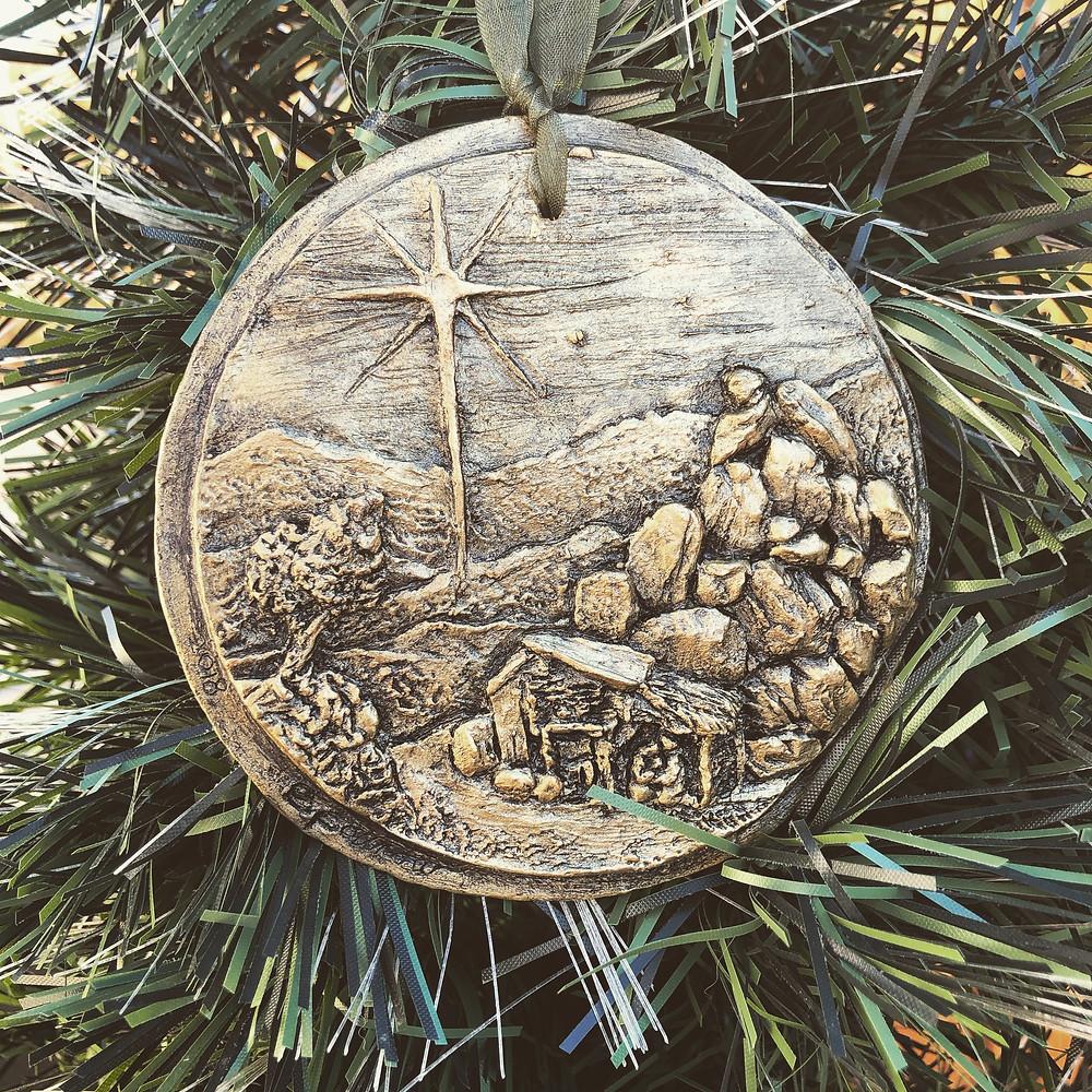 """Joshua Tree Silent Night"" ornament, 4"" dia."