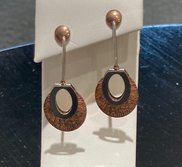 Designer sterling silver dangle earrings